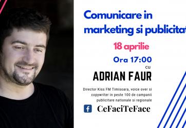 Curs de comunicare în marketing și publicitate (18 aprilie 2019)