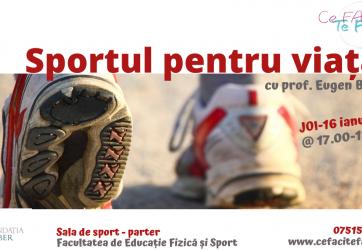 Cafeneaua tinerilor – Sportul pentru viață