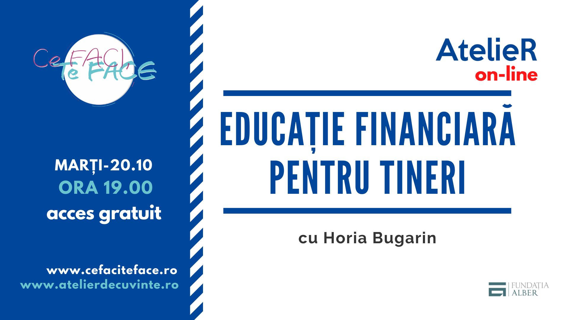 Educație financiară pentru TINEri (ON-LINE)