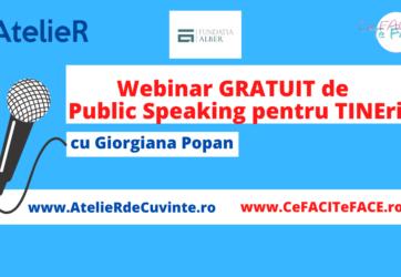 Webinar GRATUIT de Public Speaking pentru TINEri